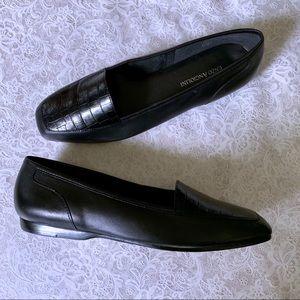 Enzo Angiolini Black Leather Liberty Loafers SZ 8